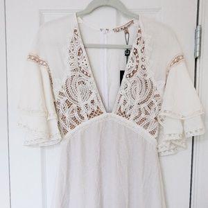 For Love and Lemons White Carmine Dress